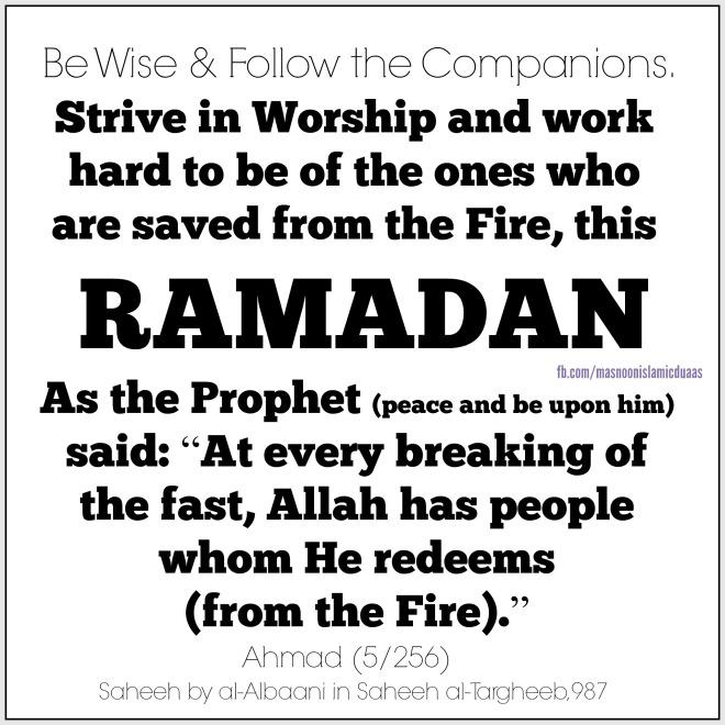 Ramadan redeem